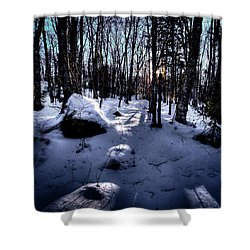 Shower Curtain featuring the photograph Winters Shadows by David Patterson