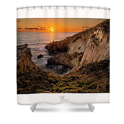 Winter's Sunset Shower Curtain