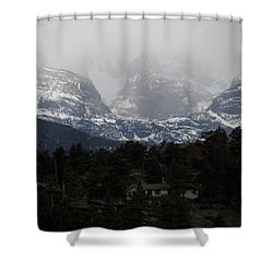 Shower Curtain featuring the photograph Winters Touch by Broderick Delaney