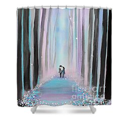 Winter's Walk Shower Curtain