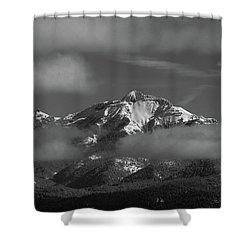 Winter's Window Shower Curtain