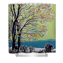 Wintertainment Tree Shower Curtain