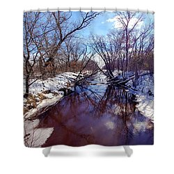 Wintertime In Necedah  Shower Curtain by Ricky L Jones