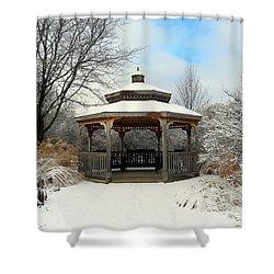 Wintertime Shower Curtain by Teresa Schomig