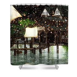 Wintery Inn Shower Curtain