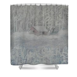 Wintery Woodland Shower Curtain