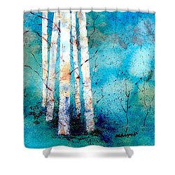 Wintry Aspen Shower Curtain