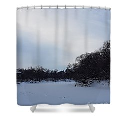 Wintry Blues Shower Curtain