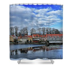 Wintry Nyborg Shower Curtain
