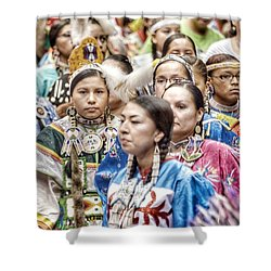 Winyan Strength Shower Curtain by Clarice Lakota