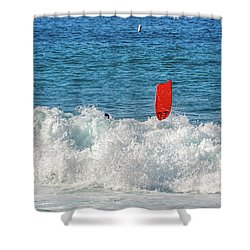 Shower Curtain featuring the photograph Wipe Out by David Lawson