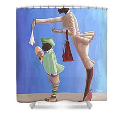Wipe Your Mouth Boy Shower Curtain