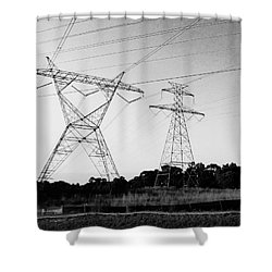 Wire Line Shower Curtain