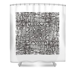 Wired Abstraction Shower Curtain