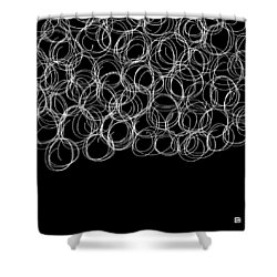 Shower Curtain featuring the painting Wired by Lisa Weedn