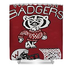 Wisconsin Badgers Shower Curtain by Jonathon Hansen