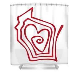Wisconsin Drawn Shower Curtain