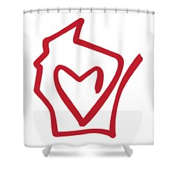 Wisconsin Love Shower Curtain
