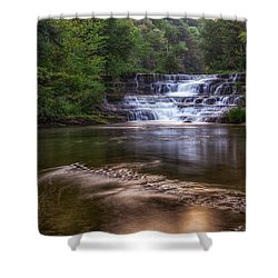 Shower Curtain featuring the photograph Wiscoy Falls by Mark Papke
