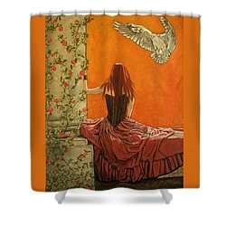 Wisdom Shower Curtain by Melita Safran