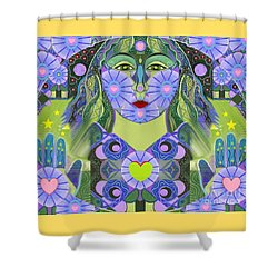 Wisdom Rising Shower Curtain by Helena Tiainen