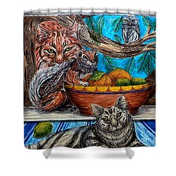 Wisdom Would Say Shower Curtain