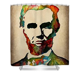 Wise Abraham Lincoln Quote Shower Curtain by Georgeta  Blanaru