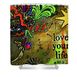 Wise Women-mask I Shower Curtain by Angela L Walker