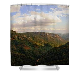 Shower Curtain featuring the photograph Wiseman's View by Jessica Brawley