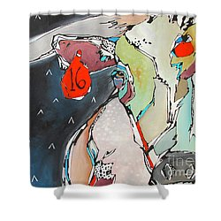 Wish On A Lucky Steer Shower Curtain