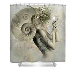 Wish On A Pearl Shower Curtain by Ali Oppy