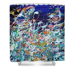 Shower Curtain featuring the painting Wishes by Fabrizio Cassetta