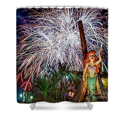 Wishes Over Prince Eric's Castle Shower Curtain