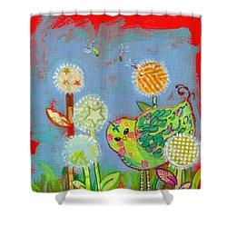 Wishful Thinking Birdy Shower Curtain