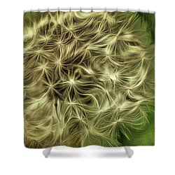 Shower Curtain featuring the mixed media Wishies by Trish Tritz
