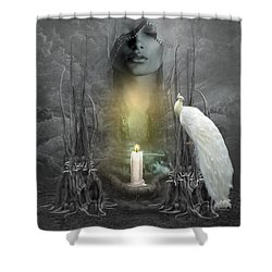 Wishing Candle Shower Curtain