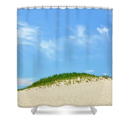 Wispy Dune Clouds Shower Curtain