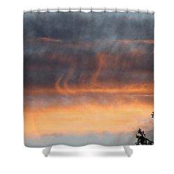 Wispy Sunset Shower Curtain