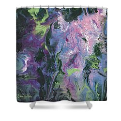 Shower Curtain featuring the painting Wisteria Abstract by Jamie Frier