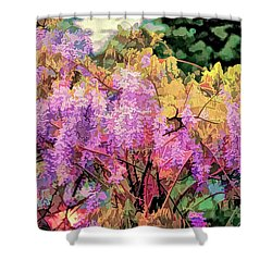 Wisteria In The Spring Shower Curtain