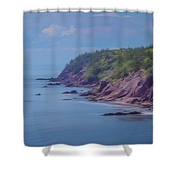Wistful Songs Of The Ocean Shower Curtain