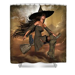 Witch Way  Shower Curtain