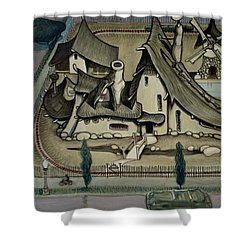 Witch's Summer House Shower Curtain