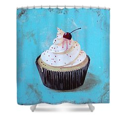 With A Cherry On Top Shower Curtain