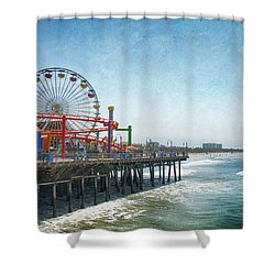 With A Smile On My Face Shower Curtain by Laurie Search