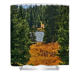 With A View Shower Curtain