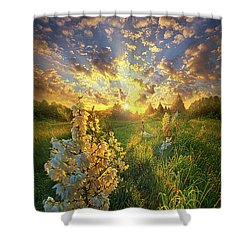 With An Angel By My Side Shower Curtain
