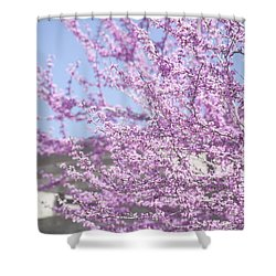 With Exuberance Shower Curtain by Morris  McClung