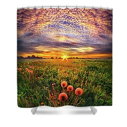 Shower Curtain featuring the photograph With Gratitude by Phil Koch