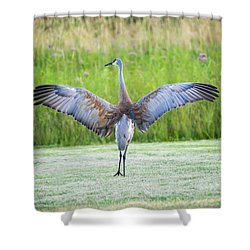 Shower Curtain featuring the photograph With Open Arms by Steven Santamour